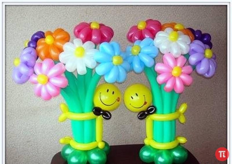 Поделки из воздушных шариков цветы 57