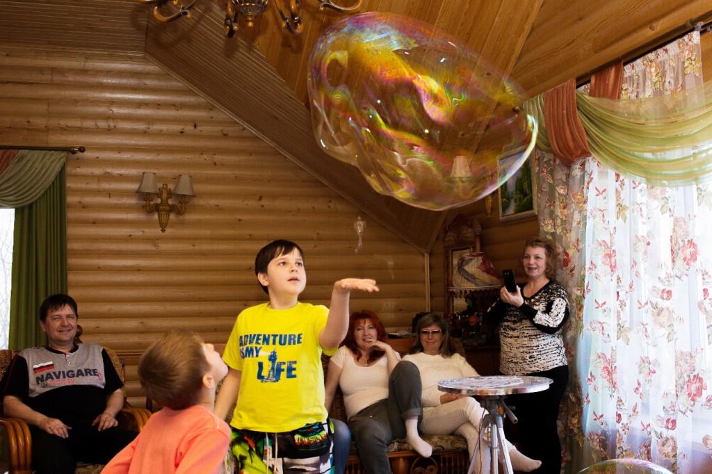 мыльные пузыри дома
